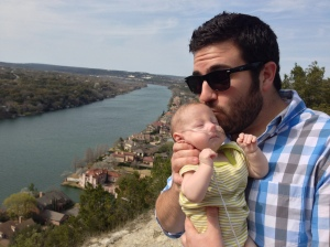 Adam & Brooklyn on top of Mt. Bonnell