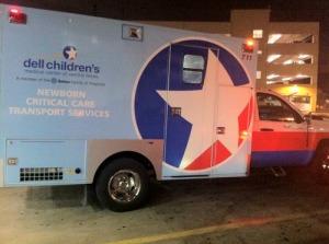 Ambulance transfer to Dell Childrens