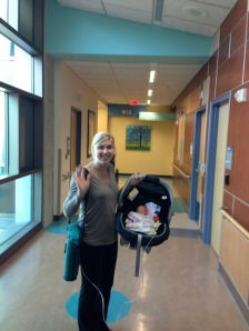 Corrie & BK leaving the NICU