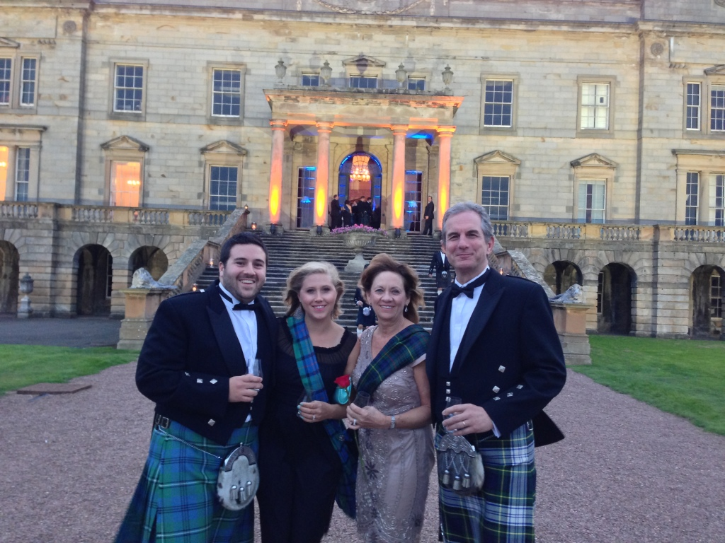 Adam & Corrie with Adam's boss & his wife in Scotland.
